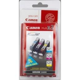 Sada Canon CLI-521C + CLI-521M + CLI-521Y