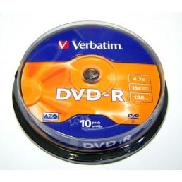 DVD-R Verbatim 4.7Gb 120min 10ks